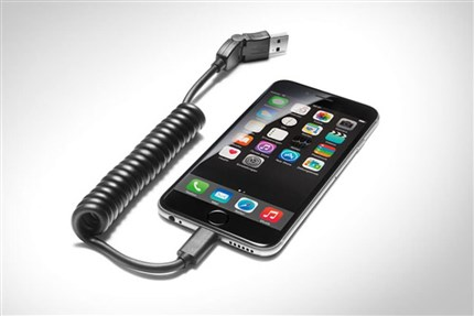 Adaptador USB para móviles con conector Apple Lightning recto